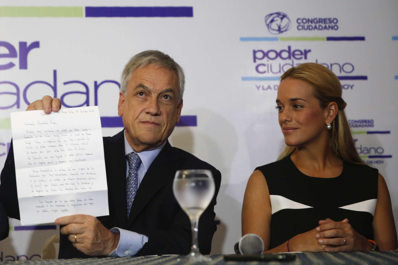 Piñera pide la libertad de opositor en Venezuela, el 26 de enero de 2015 Foto: Reuters en español