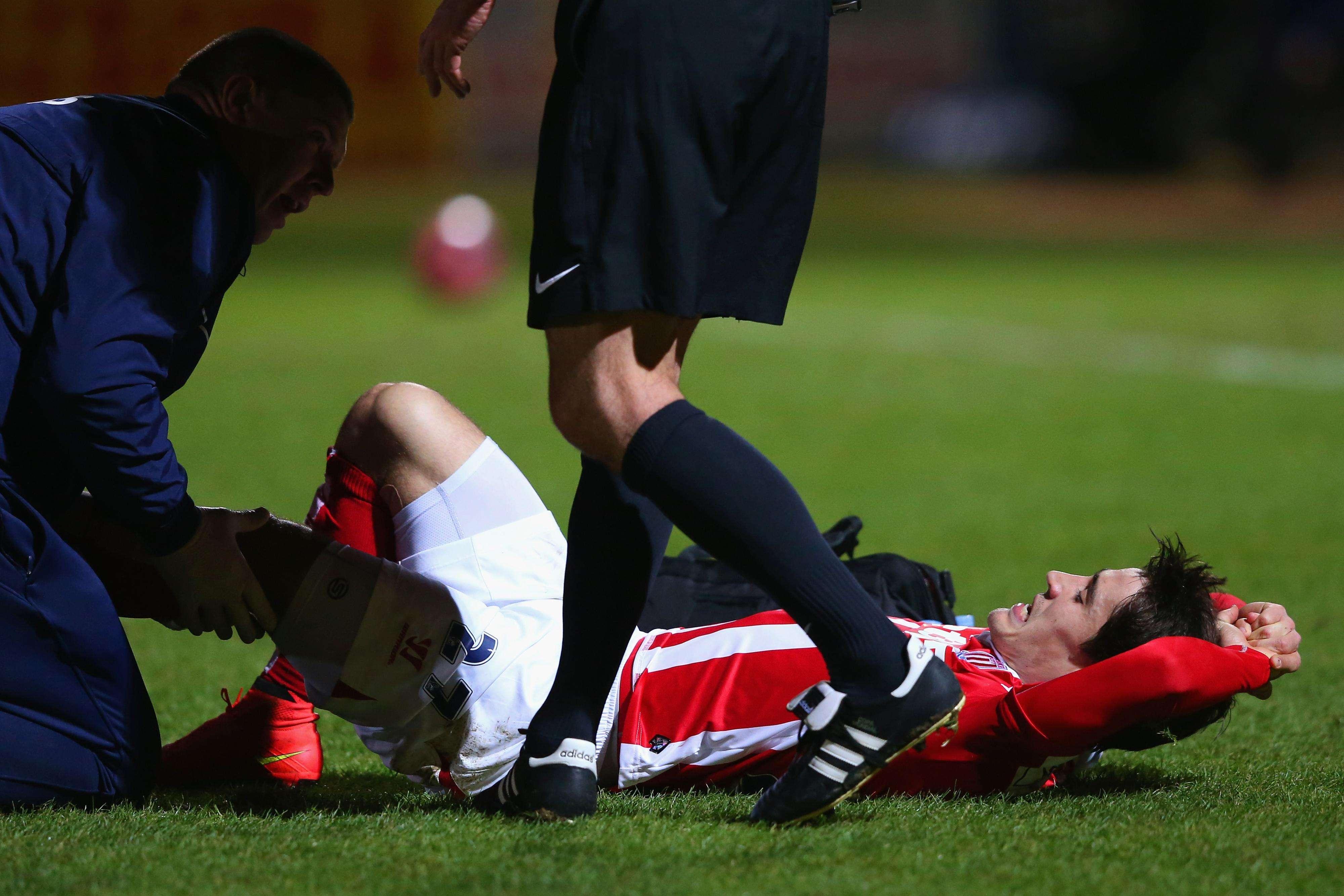 El español se lesionó la rodilla. Foto: Getty Images