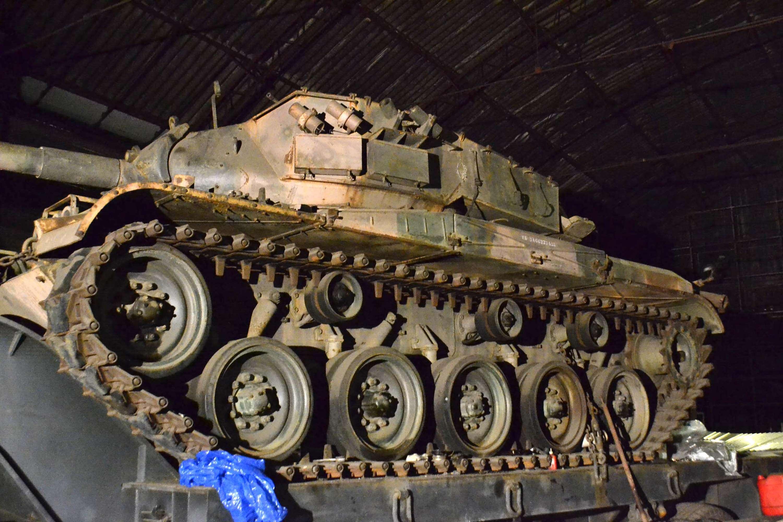 Tanque de guerra foi encontrado em um galpão na zona sul de São Paulo Foto: Edu Silva/Futura Press