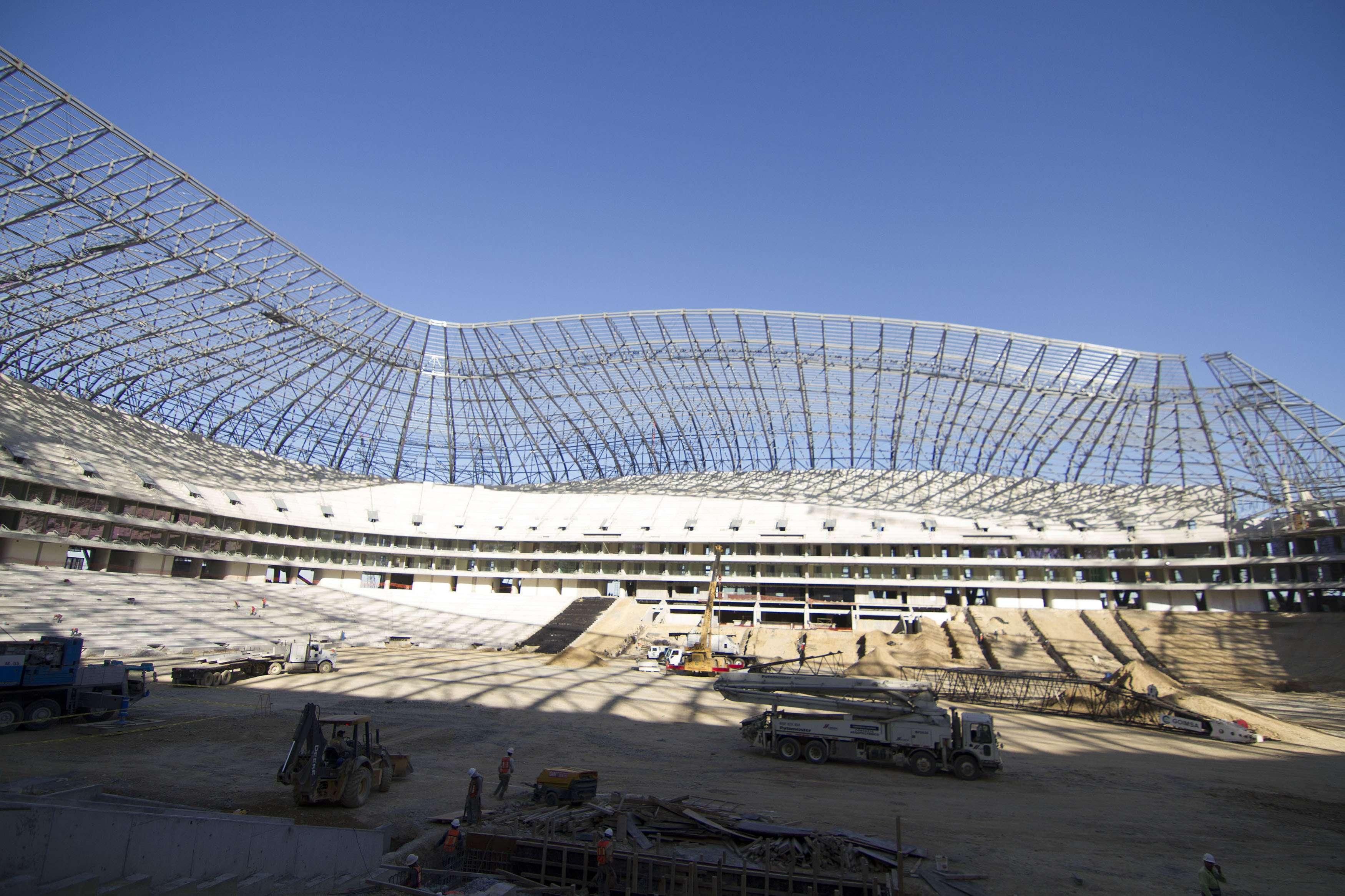La construcción del Nuevo Estadio del monterrey. Foto: Mexsport