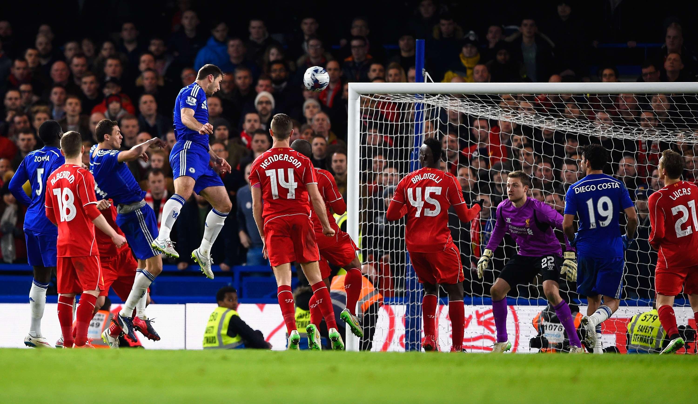 Ivanovic fez de cabeça o gol da vitória Foto: Mike Hewitt/Getty Images
