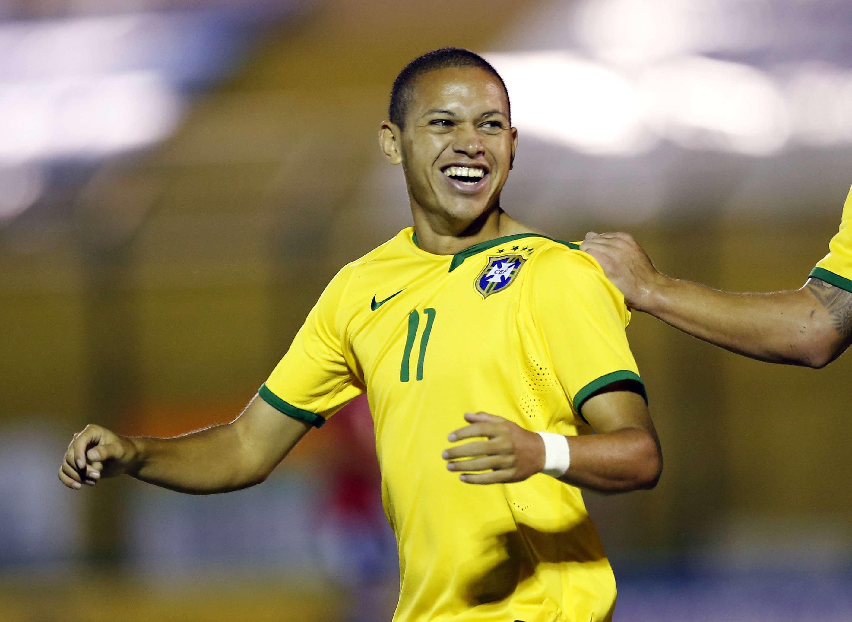 Marcos Guilherme é o artilheiro do Brasil no Sul-Americano Sub-20 Foto: Andres Stapff/Reuters