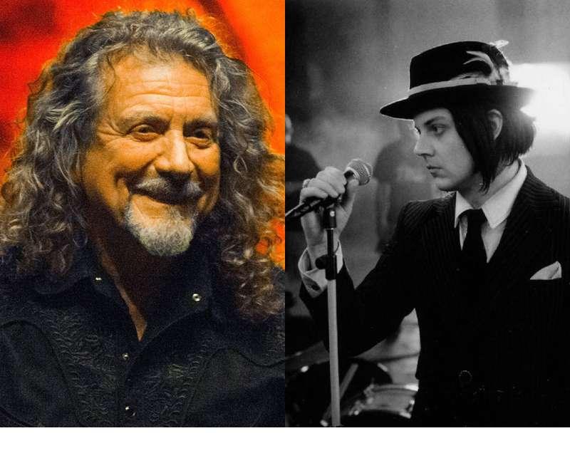Robert Plant y Jack White, juntos, en el Teatro Caupolicán. Foto: Terra Chile