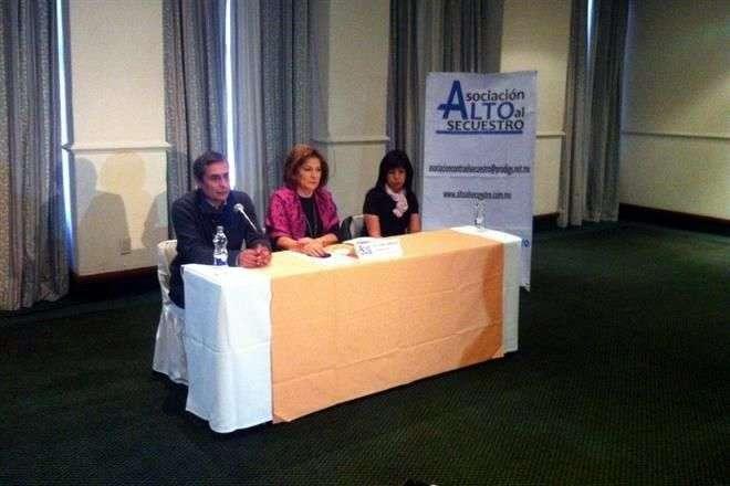 La organización Alto al Secuestro ofreció una conferencia de prensa para dar a conocer las cifras de secuestro con corte al 31 de diciembre de 2014. Foto: César Martínez/Reforma