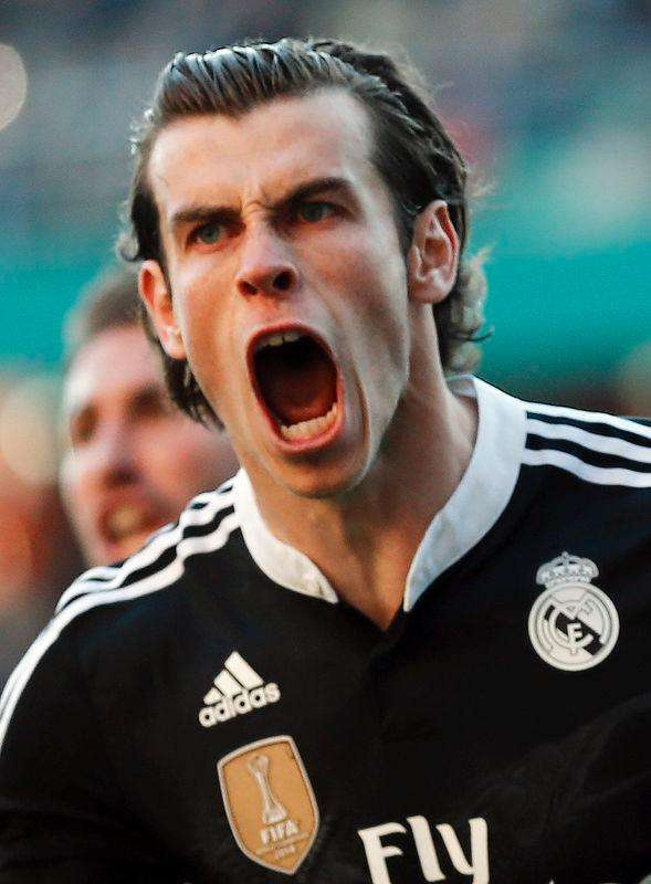 Real Madrid's Gareth Bale celebrates after scoring against Cordoba during their Spanish First Division soccer match at El Arcangel stadium in Cordoba, January 24, 2015. Foto: Marcelo del Pozo (SPAIN - Tags: HEADSHOT SPORT SOCCER)/Reuters