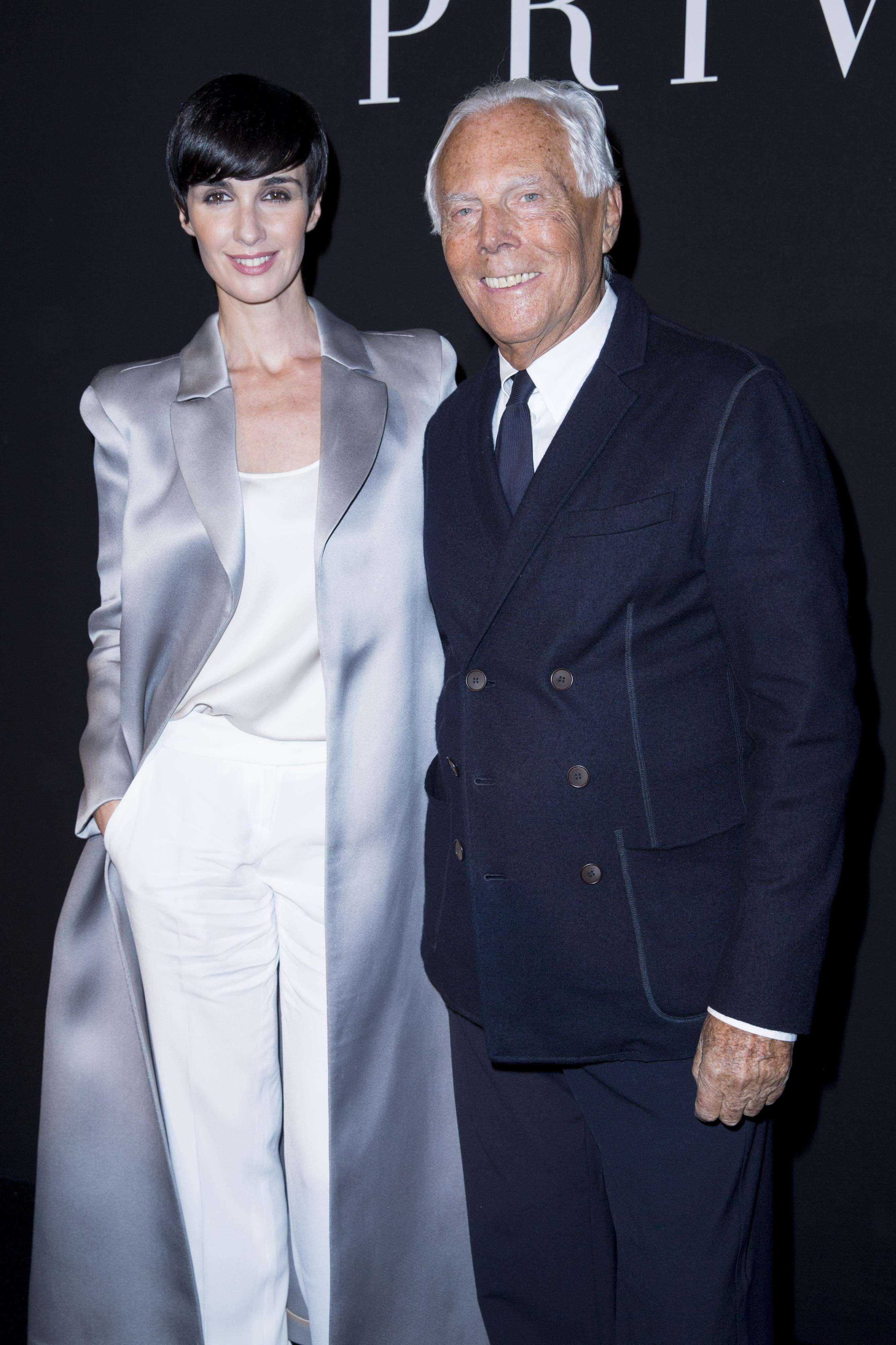 Paz Vega, con el maestro Armani. Foto: Gtres