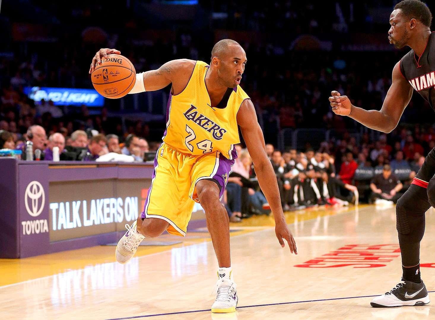 Kobe Bryant será baja por nueve meses para Los Ángeles Lakers. Foto: Stephen Dunn/Getty Images