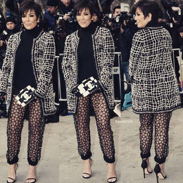 28 de enero de 2015 - ¿No que ya se había divorciado? Kris Jenner causó revuelo en un desfile de modas en París. Kris, quién aún conserva el apellido de casada, llegó vestida muy provocativa dejando atónitos a los asistentes. ¿Será que está viviendo su 'segundo aire'? Foto: Instagram