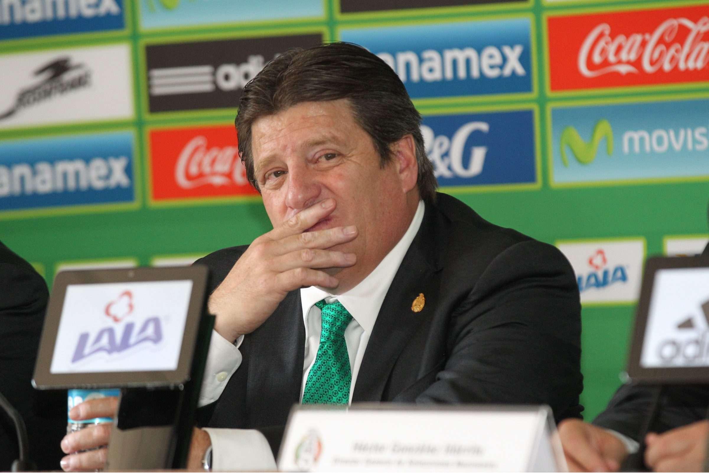 Miguel Herrera, director técnico de la Selección Mexicana. Foto: Notimex