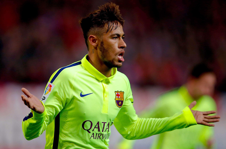Neymar marcou dois gols logo no primeiro tempo Foto: Gonzalo Arroyo Moreno/Getty Images