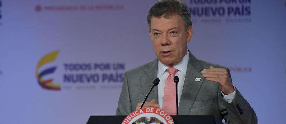 Presidente Juan Manuel Santos Foto: Presidencia de la República