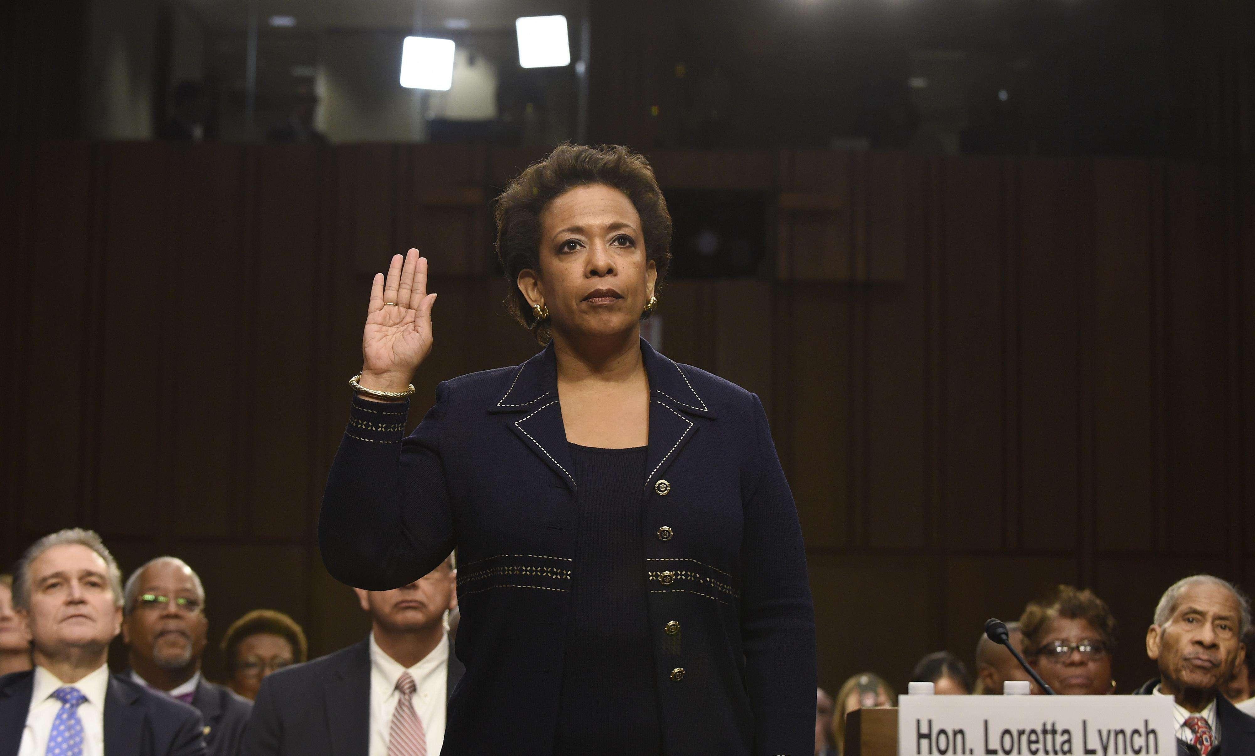 Loretta Lynch enfrenta la audiencia de confirmación en el Senado este 28 de enero del 2015. Foto: AP en español