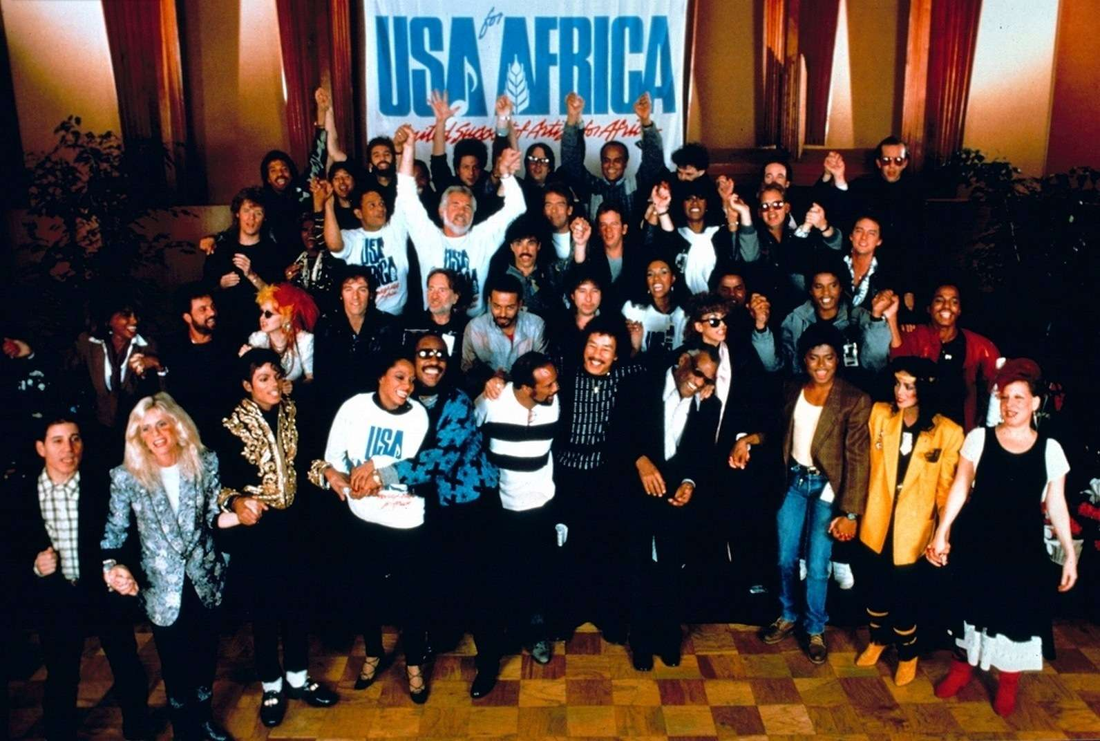 'We Are the World' cumple 30 años Foto: mjworld.net