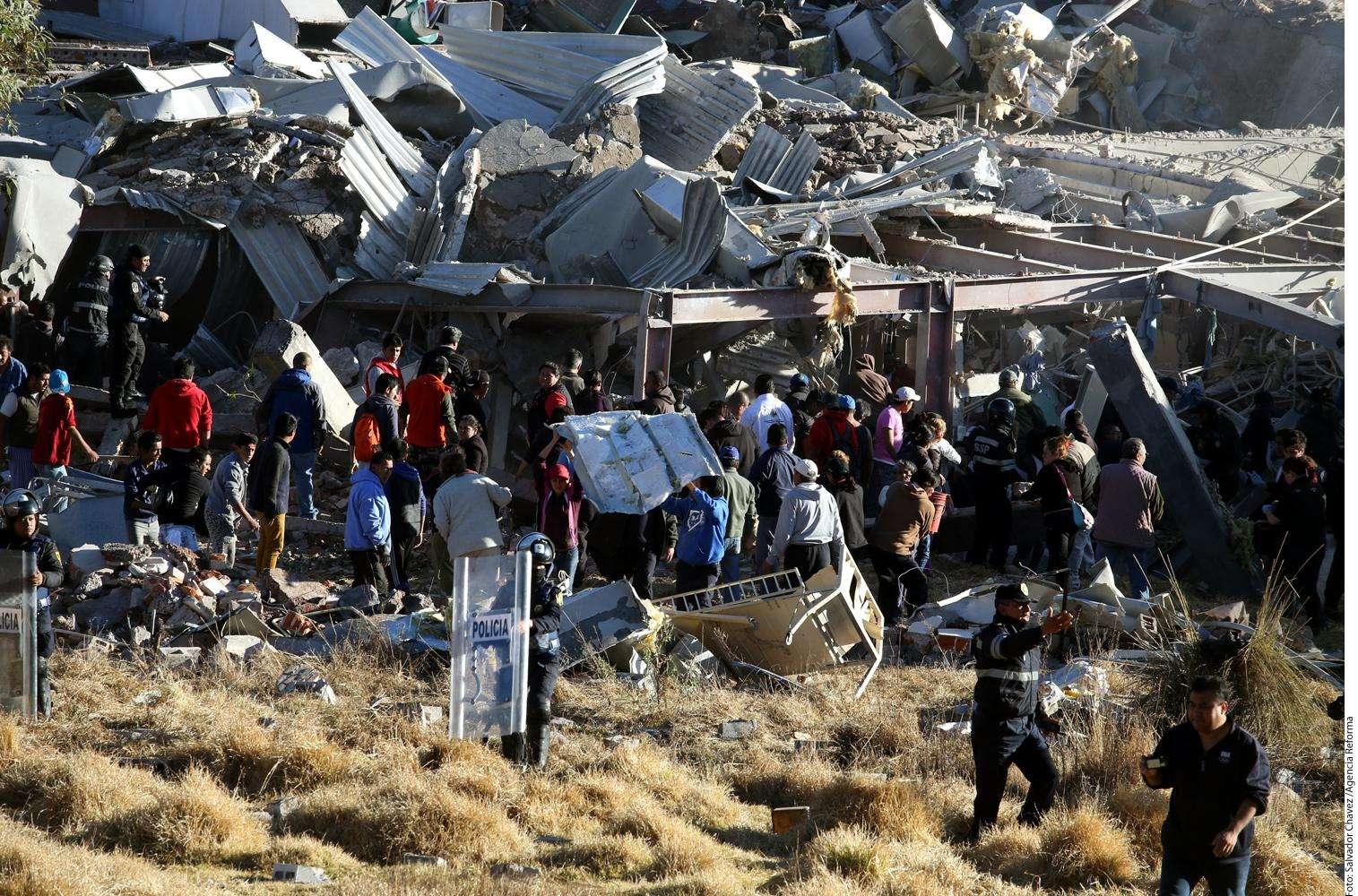 Explosión en hospital Foto: Agencia Reforma