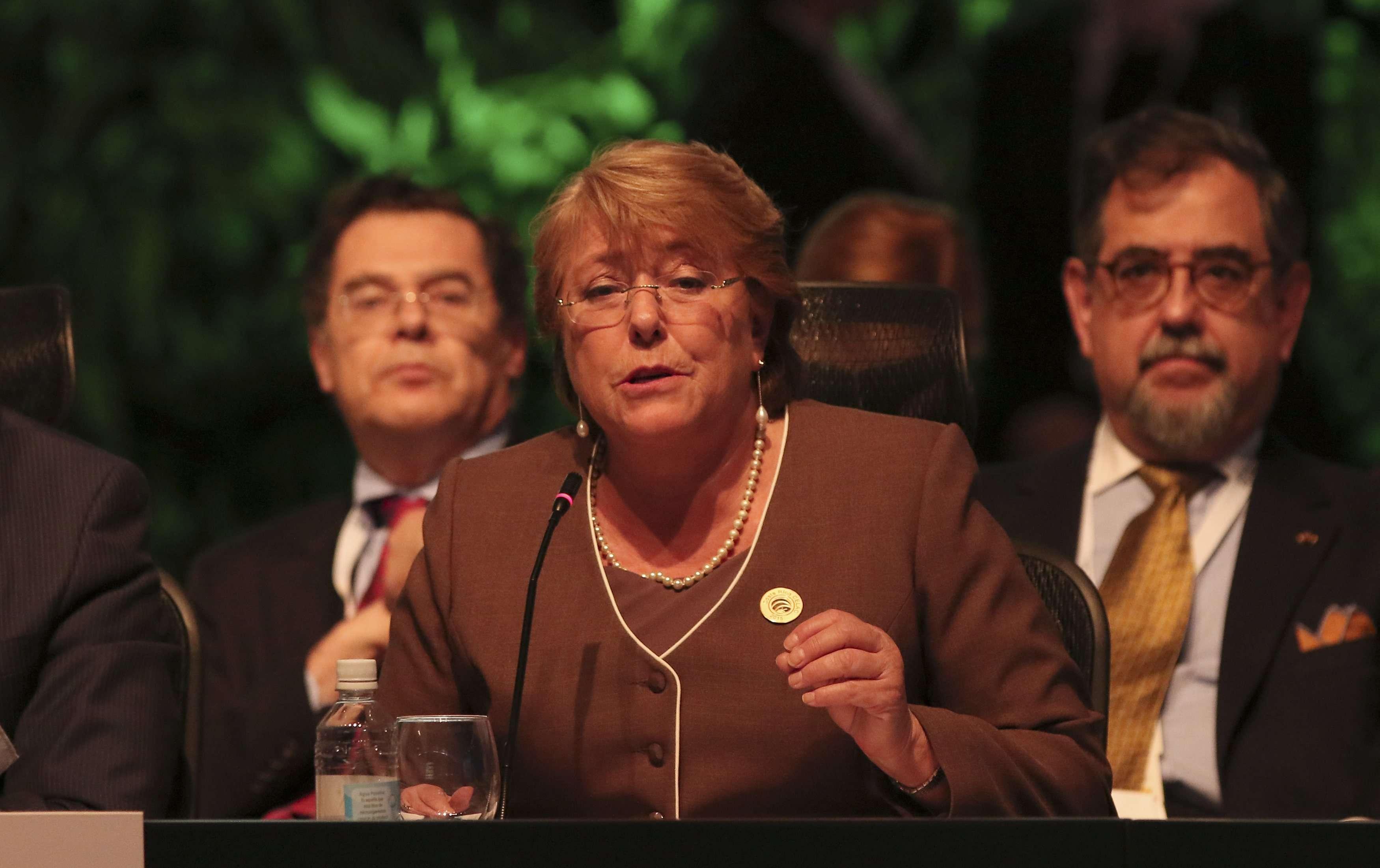 La presidenta Michelle Bachelet en la ceremonia de apertura de la reunión de la CELAC en Costa Rica, el 28 de enero de 2015. Foto: Reuters en español