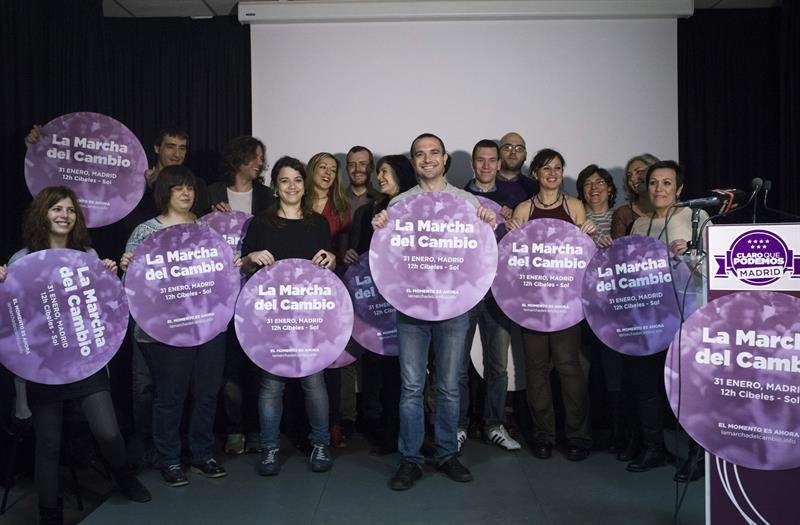 """Podemos presentó esta semana el proyecto y el equipo con el que busca """"recuperar Madrid para sus ciudadanos"""", Foto: EFE"""
