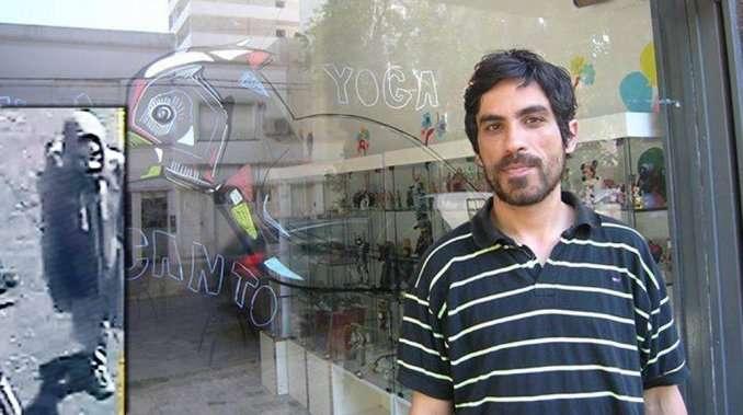 Joaquín Silva, artista plástico, era buscado intensamente. Se organizó una campaña por las redes sociales, medios de comunicación y carteles pegados en las calles, para acompañar la investigación policial y encontrarlo. Foto: Twitter