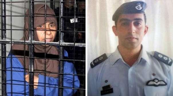 O Estado Islâmico pede libertação da iraquiana e mantém o piloto jordaniano como refém Foto: Twitter