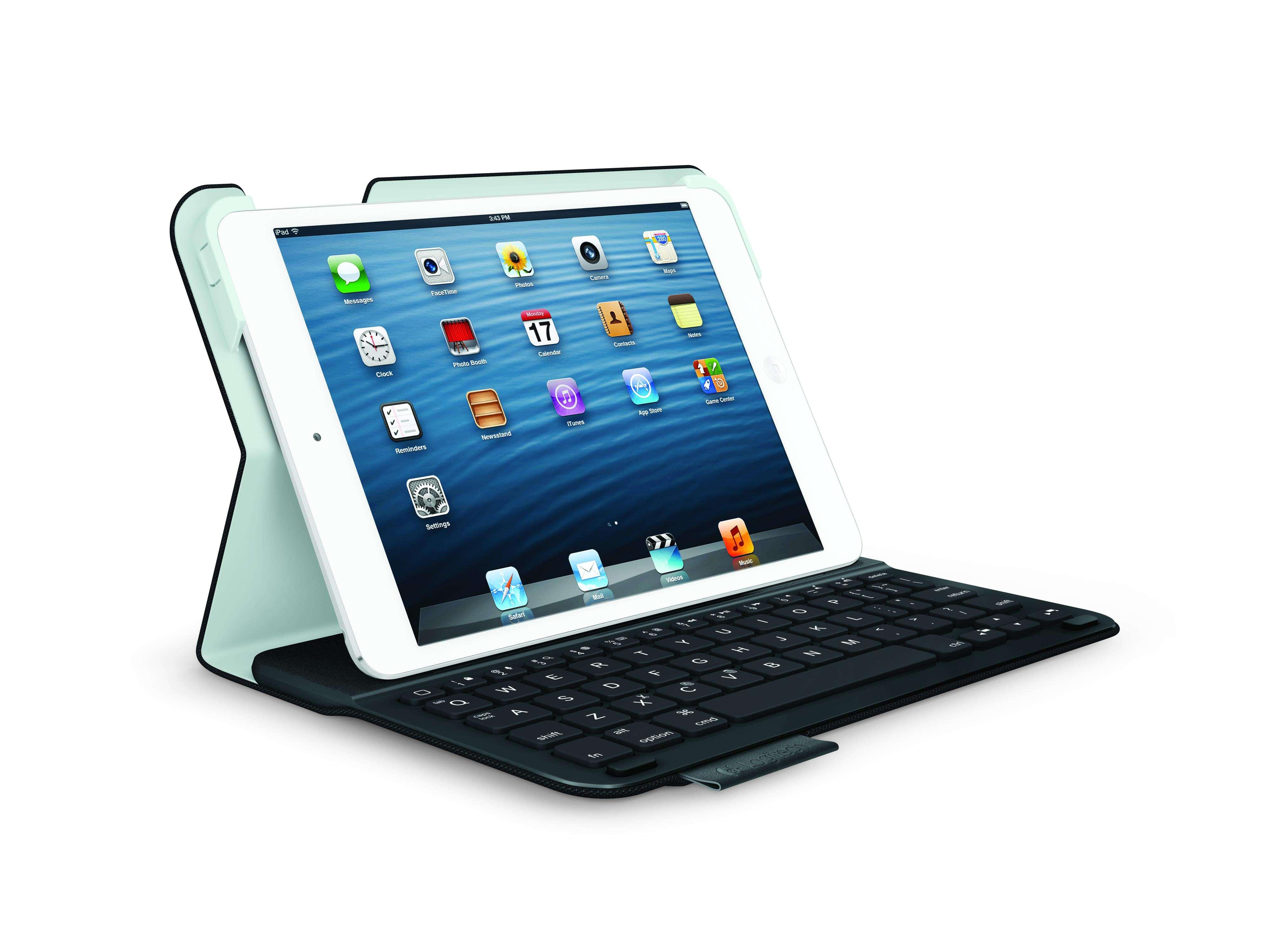Disponível nas cores preto, vermelho, cinza e azul, o teclado Ultrathin Folio para iPad cobre as partes dianteira e traseira do tablet Foto: Divulgação