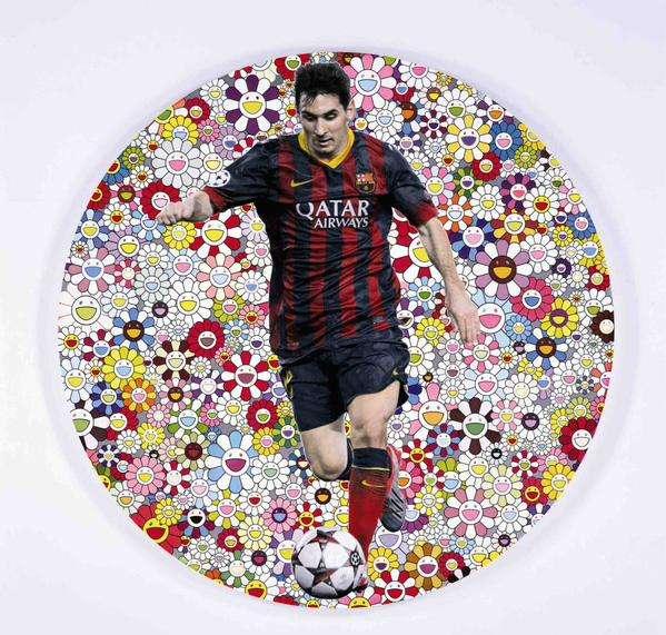 Messi y la obra de arte. Foto: Twitter Selección de Argentina