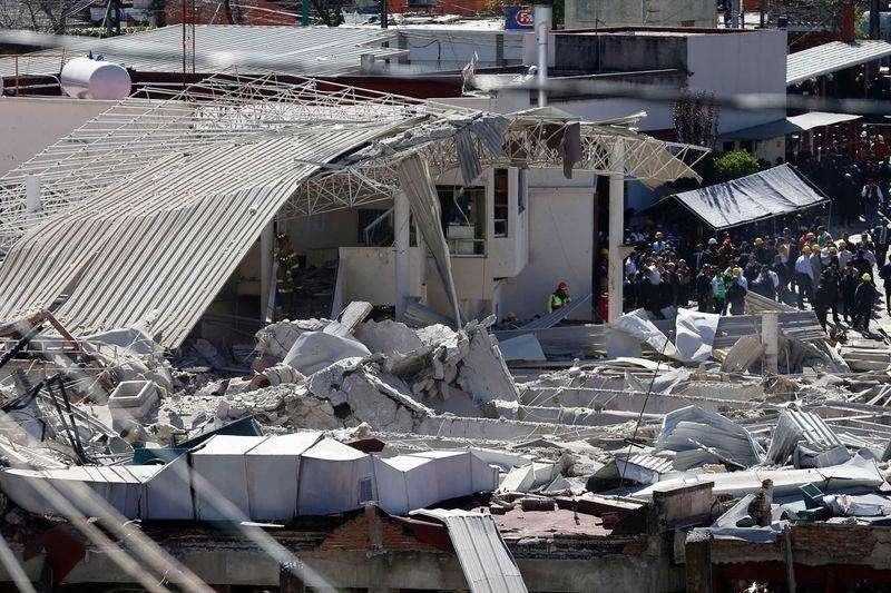 Maternidade no oeste da Cidade do México, onde houve uma explosão. 29/1/2015 Foto: Edgard Garrido/Reuters