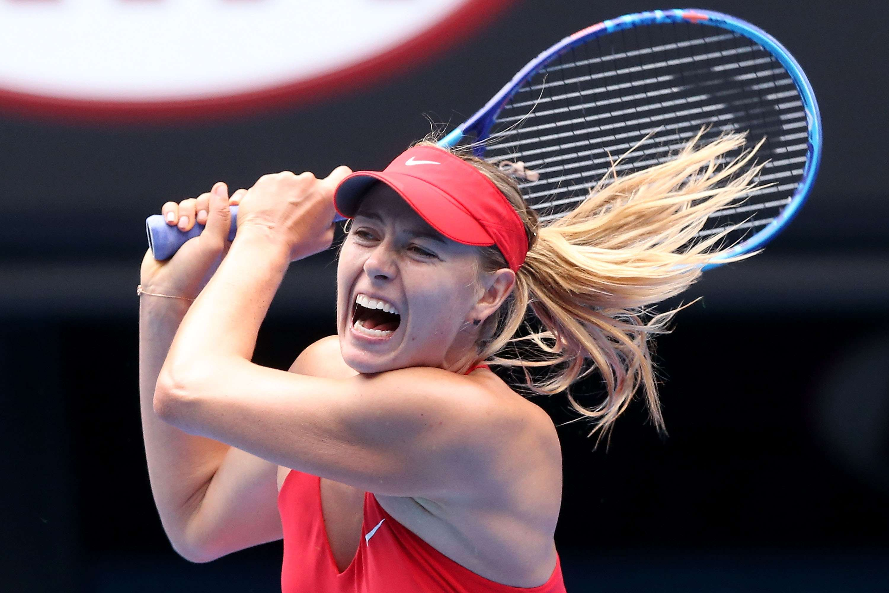 Sharapova quiere vencer a Serena Williams en la final del Abierto de Australia. Foto: Getty Images