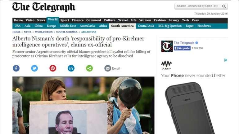 El insólito artículo del diario británico se publicó este jueves Foto: The Telegraph