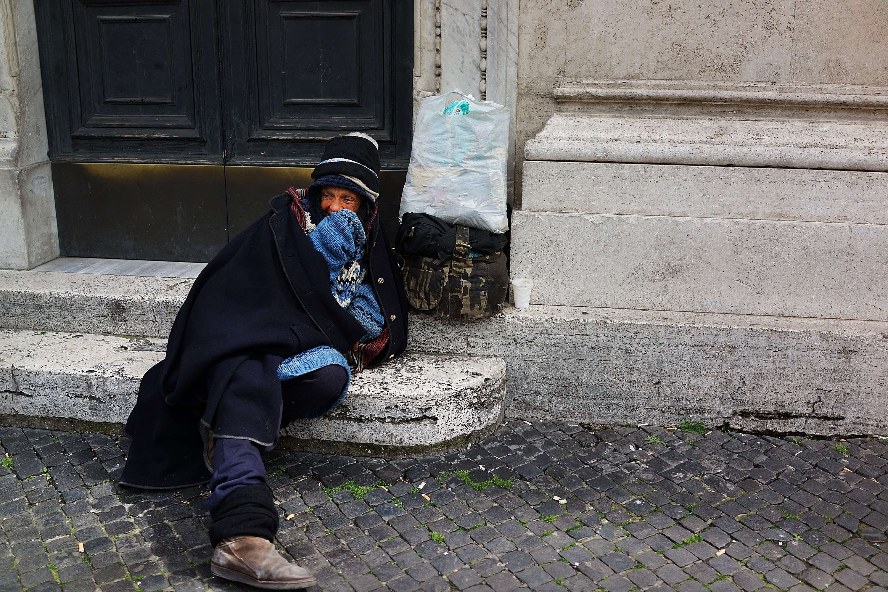 Indigente en Roma Foto: Getty Images