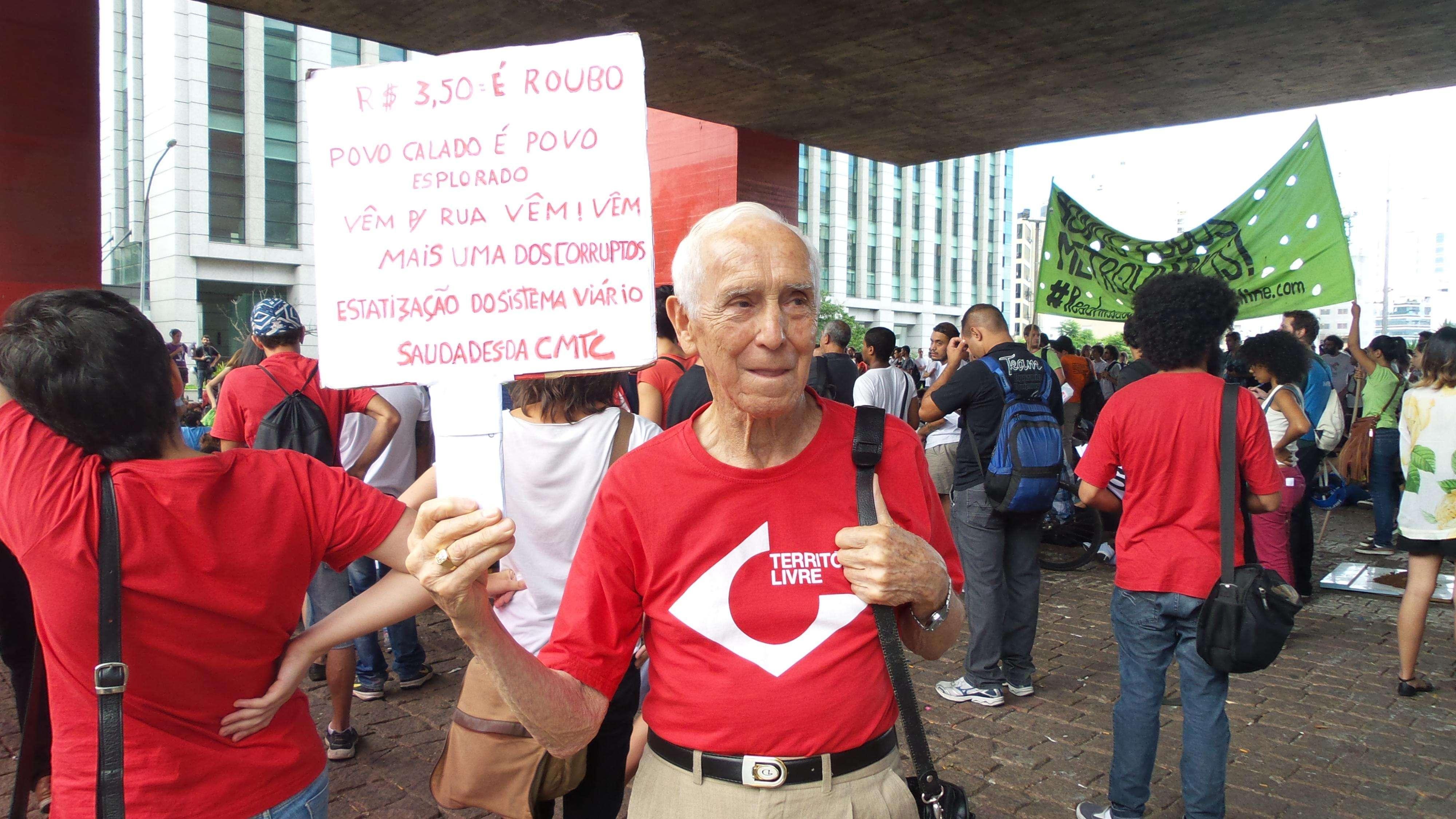 José de Freitas, 87 anos, integrante do movimento Território Livre Foto: Terra