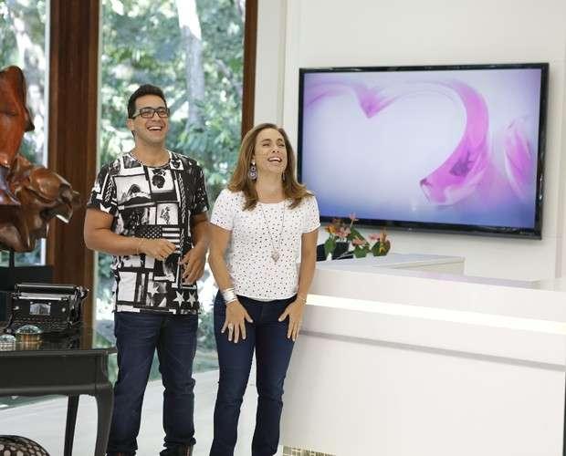 Cissa Guimarães e André Marques se despedem do Mais Você Foto: TV Globo/Divulgação