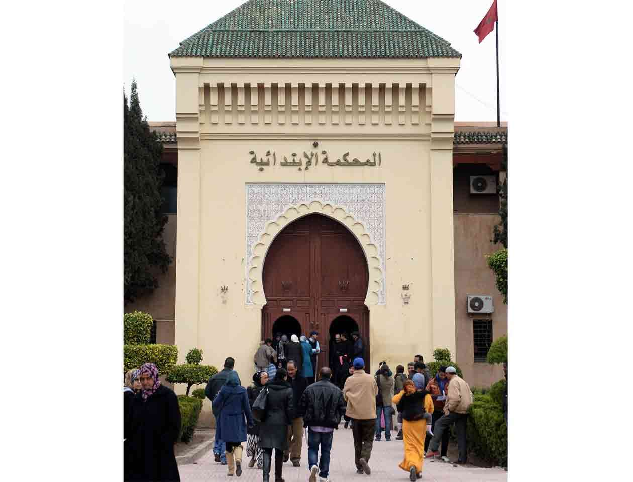 Vista general de la Corte de Marrakech, donde se realizó la audiencia del ciudadano francés Jean-Luc G, acusado de pederastia y condenado a dos años de cárcel Foto: FADEL SENNA/AFP
