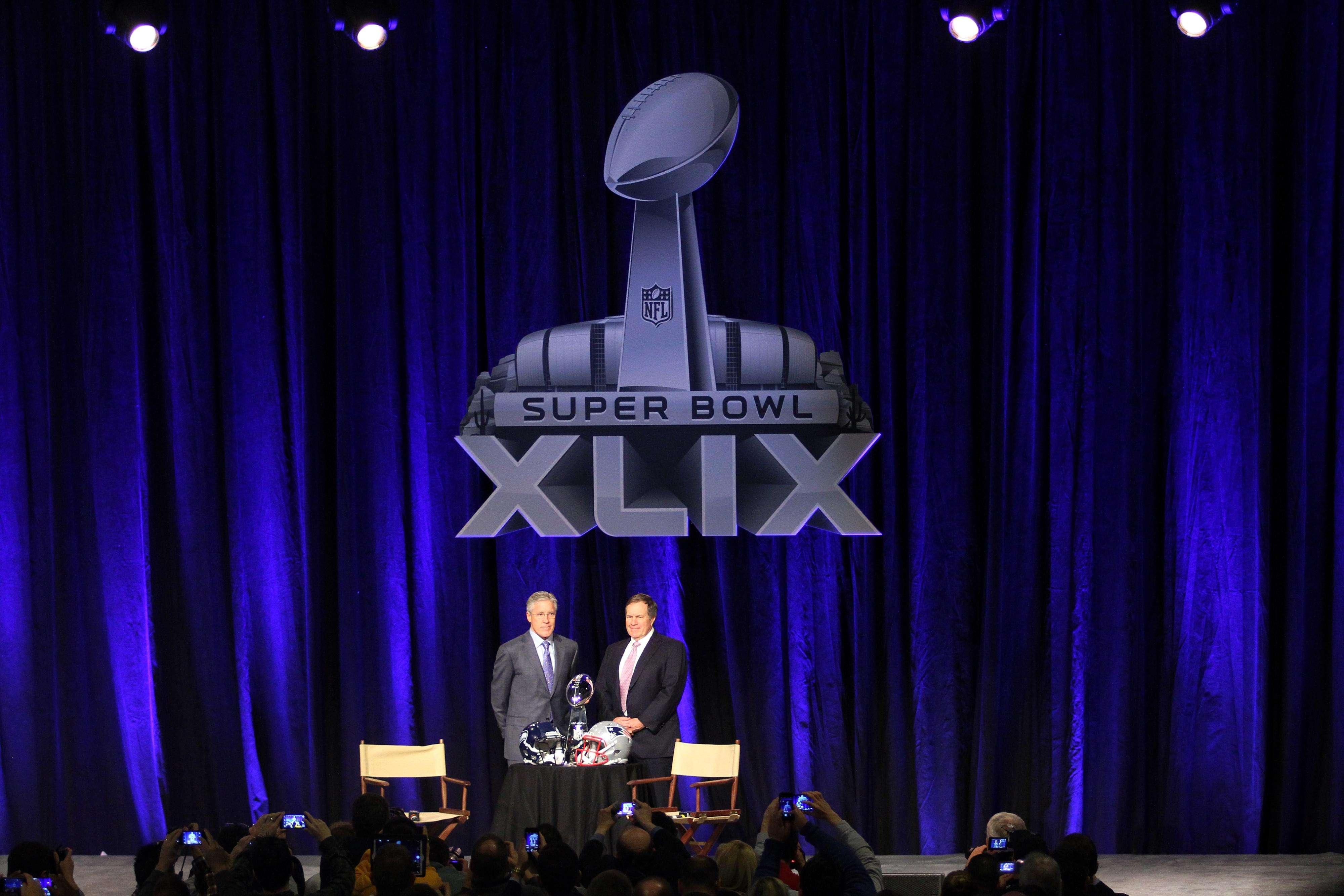 Conferencia de prensa con los dos entrenadores en jefe del Super Bowl: Pete Carroll, de Seattle y Bill Bellichick de los Patriotas Foto: Mario Castillo / Derechos reservados/TERRA
