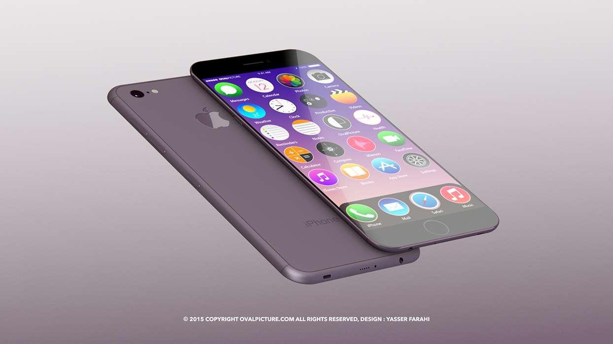 iPhone 7 ganha versão em vinho e tela de cristal safira em desenho de artista Foto: Oval Picture/Divulgação