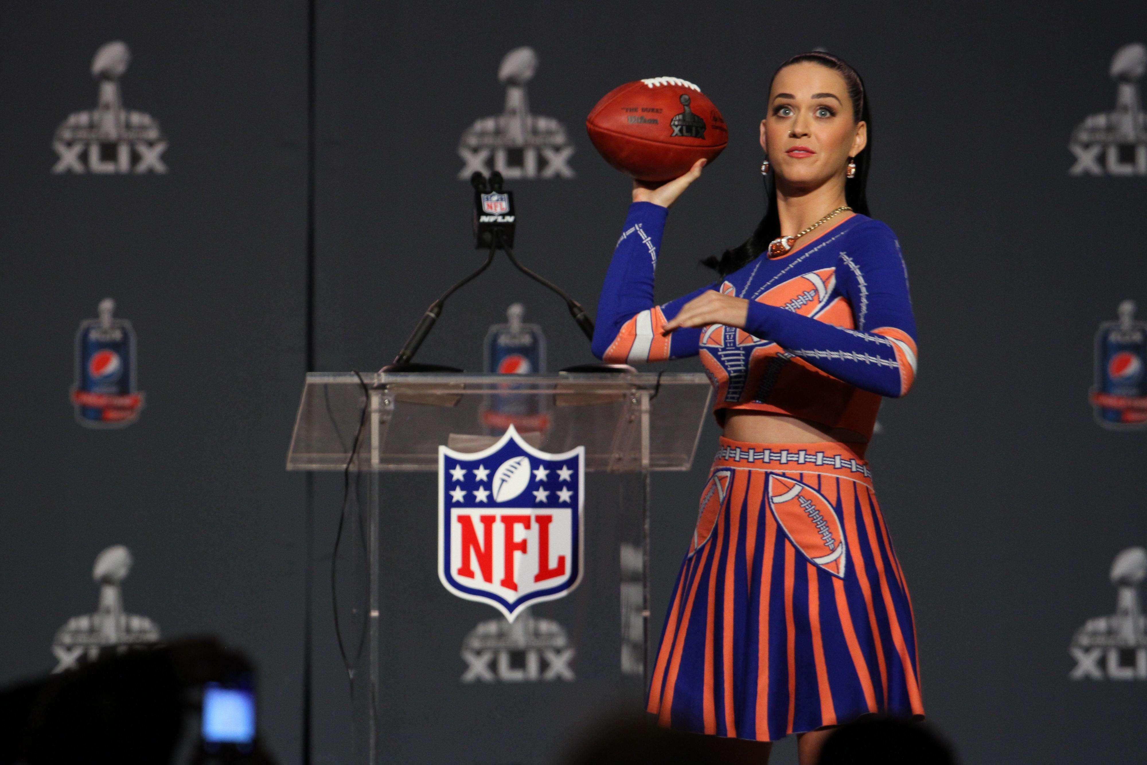 Katy Perry será la encaragada del show del medio tiempo en el Super Bowl. Foto: Mario Castillo/Terrra