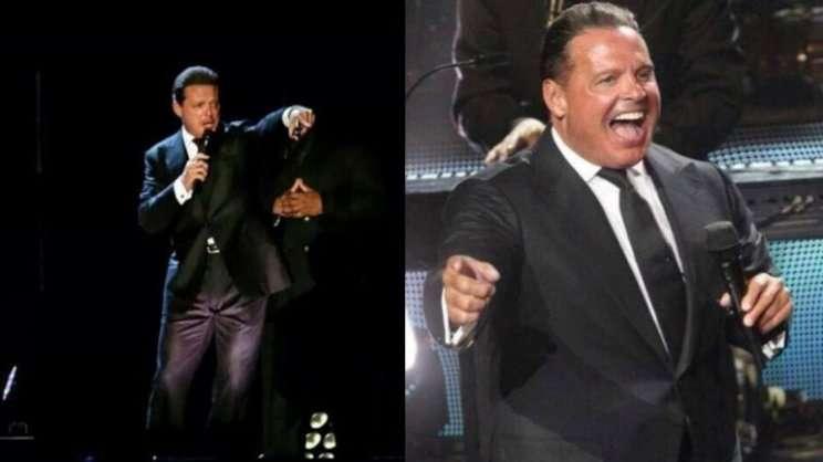 """Las fotos de Luis Miguel. La original y la """"tocada"""" por los usuarios. Foto: Twitter"""