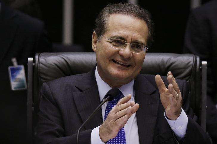 Presidente do Senado, Renan Calheiros, durante sessão do Congresso Nacional em Brasília. 03/12/2014 Foto: Ueslei Marcelino/Reuters