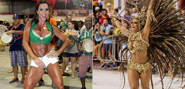 Gracyanne Barbosa x Viviane Araújo Foto: José Luiz Somensi/PrimaPagina e Paduardo/AgNews