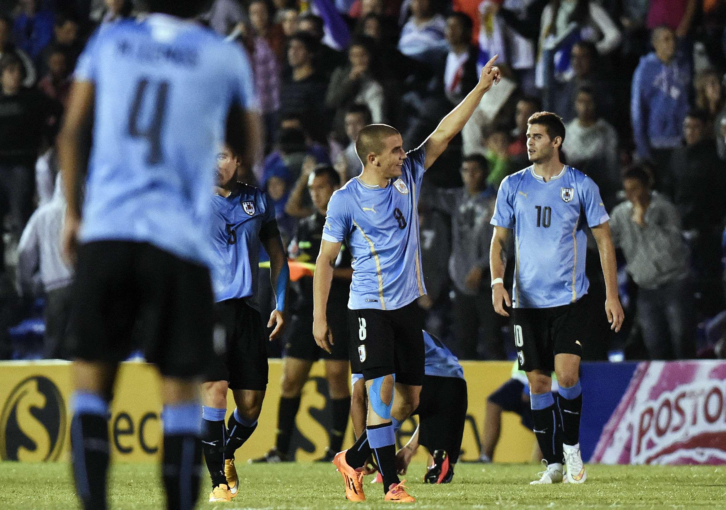 Uruguai venceu Peru com tranquilidade Foto: Matilde Campodonico/AP