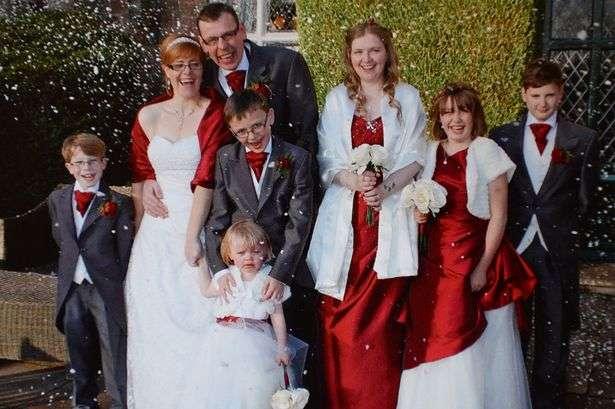 Casamento de Sarah Lee e Darren Taylor Foto: Mirror/Reprodução