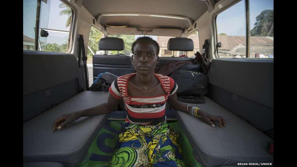 Justine foi levada a Gbadolite, onde as instalações médicas são melhores, para continuar seu tratamento. Foto: Brian Sokol/UNHCR