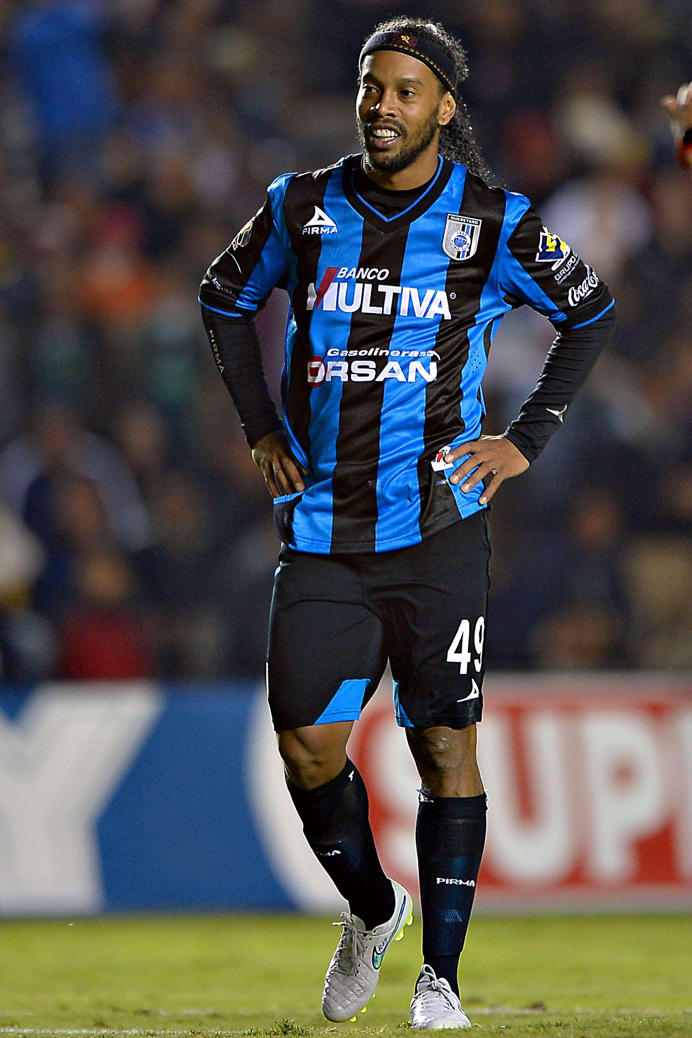 Santos da cuenta 1-0 del Querétaro con todo y Ronaldinho. Foto: Mexsport