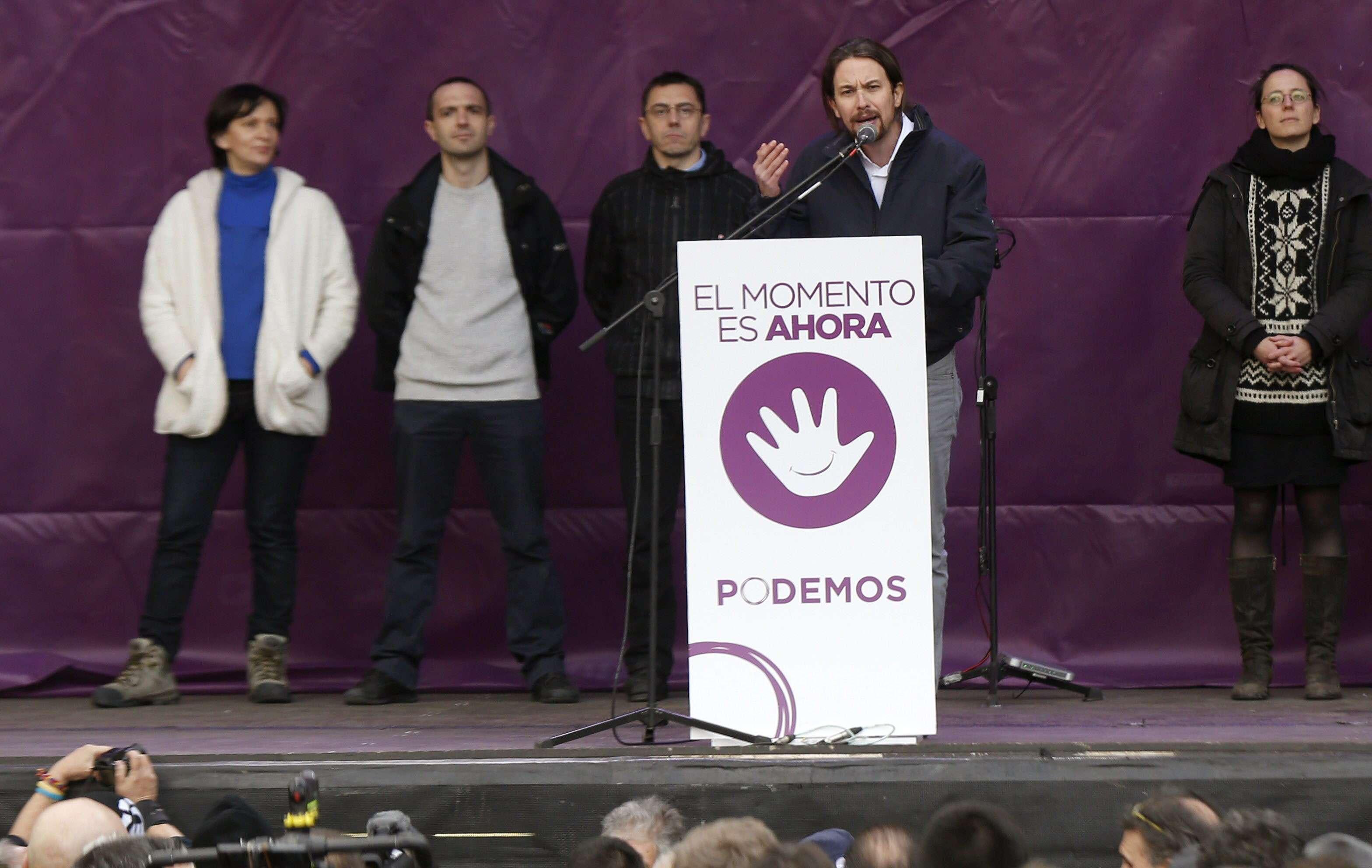 """La """"marcha del cambio"""" convocada por Podemos (Madrid). Foto: EFE en español"""