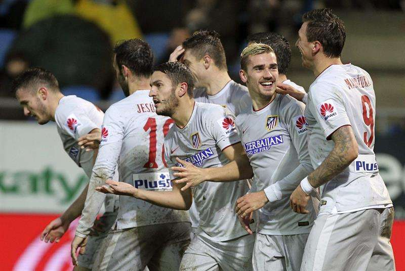 Atlético (47 puntos) sigue tercero de la Liga española. Foto: EFE en español