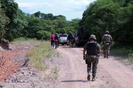 Ejército acordonó la zona de la balacera, sin dar detalles sobre las víctimas. Foto: Quadratín