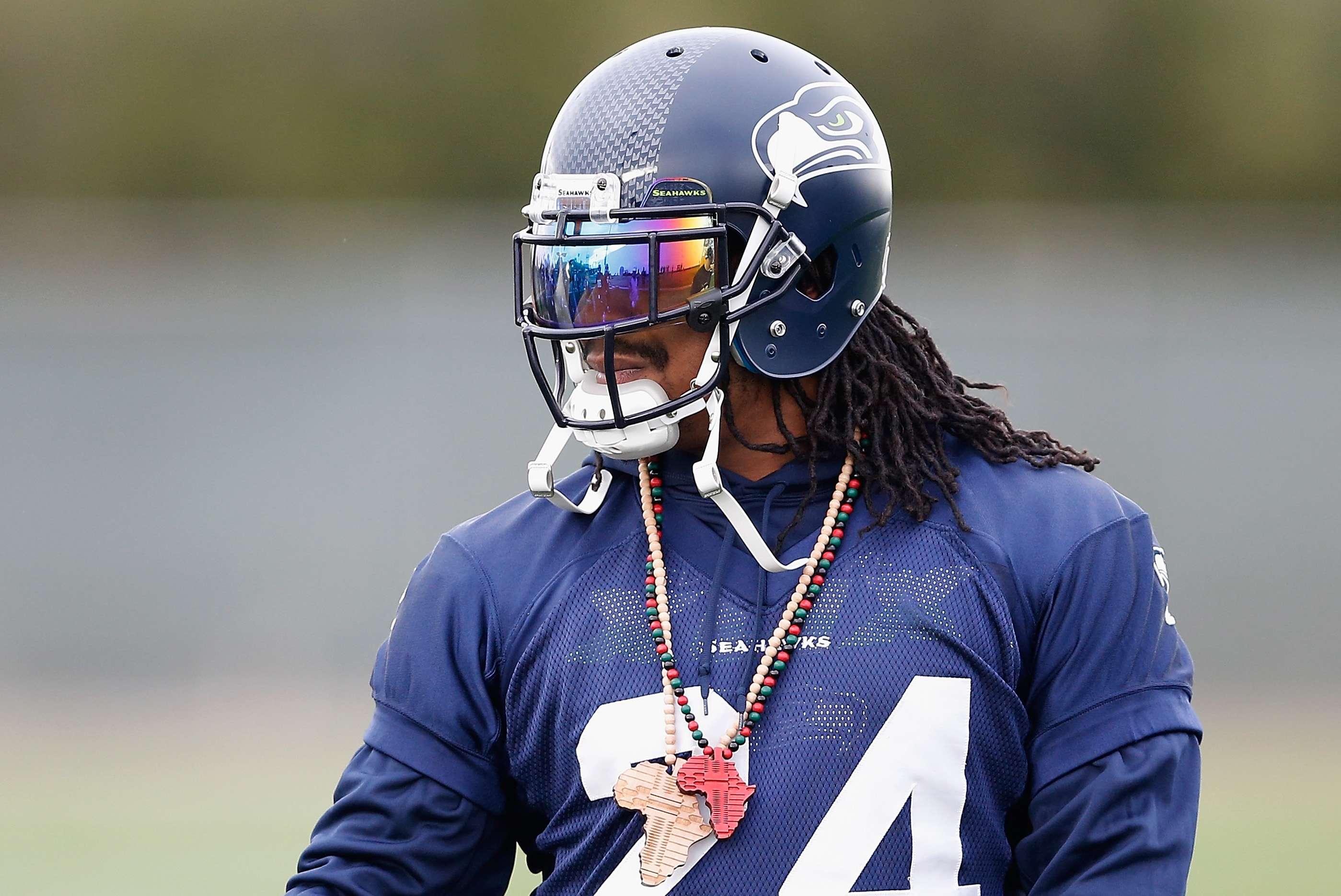 Marshawn Lynch se convertirá en agente libre al momento que termine el Super Bowl XLIX Foto: Gettyimages