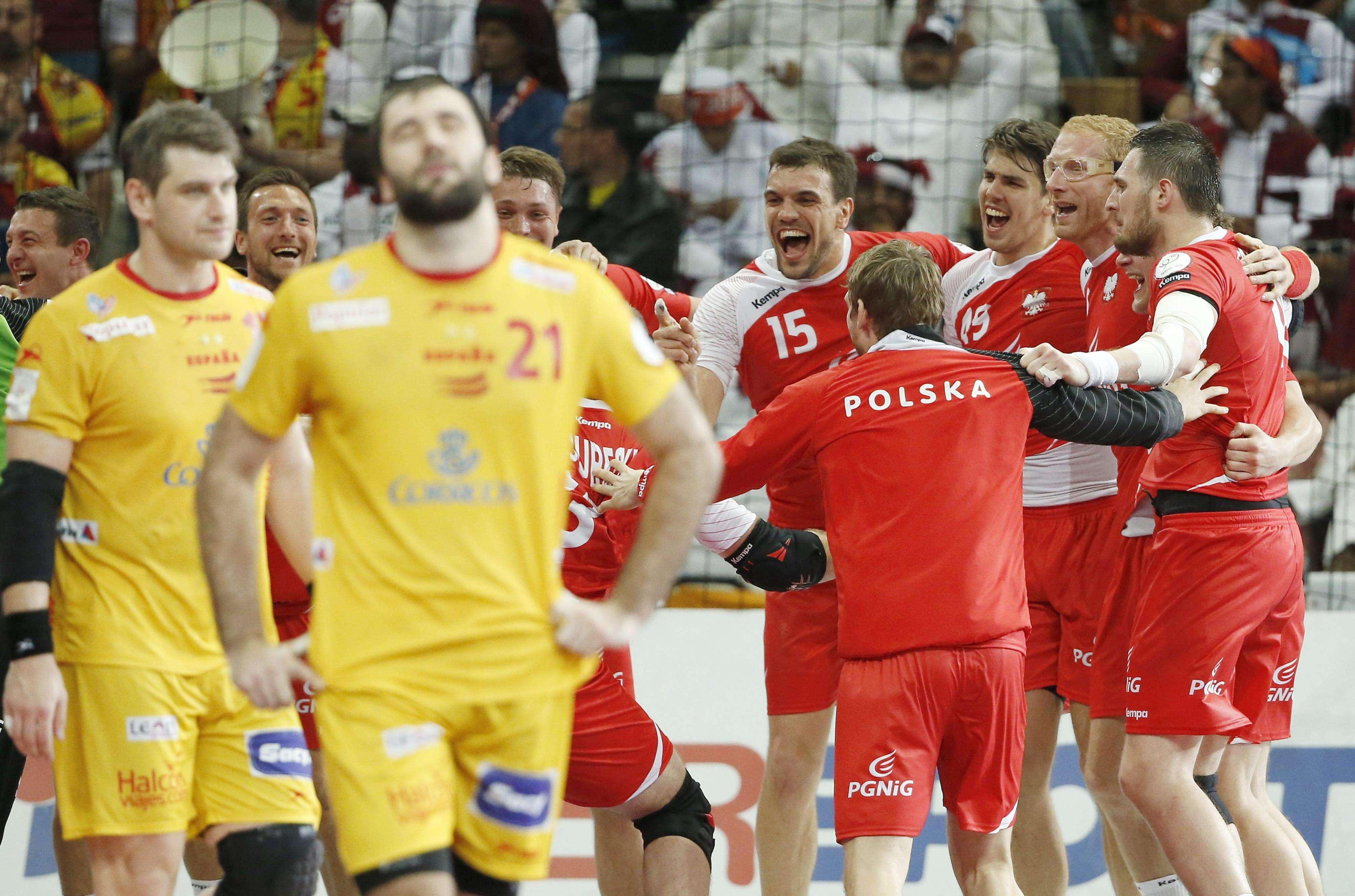 España se queda sin medalla de bronce en el Mundial de Catar 2015 al perder contra Polonia (29-28). Foto: EFE en español