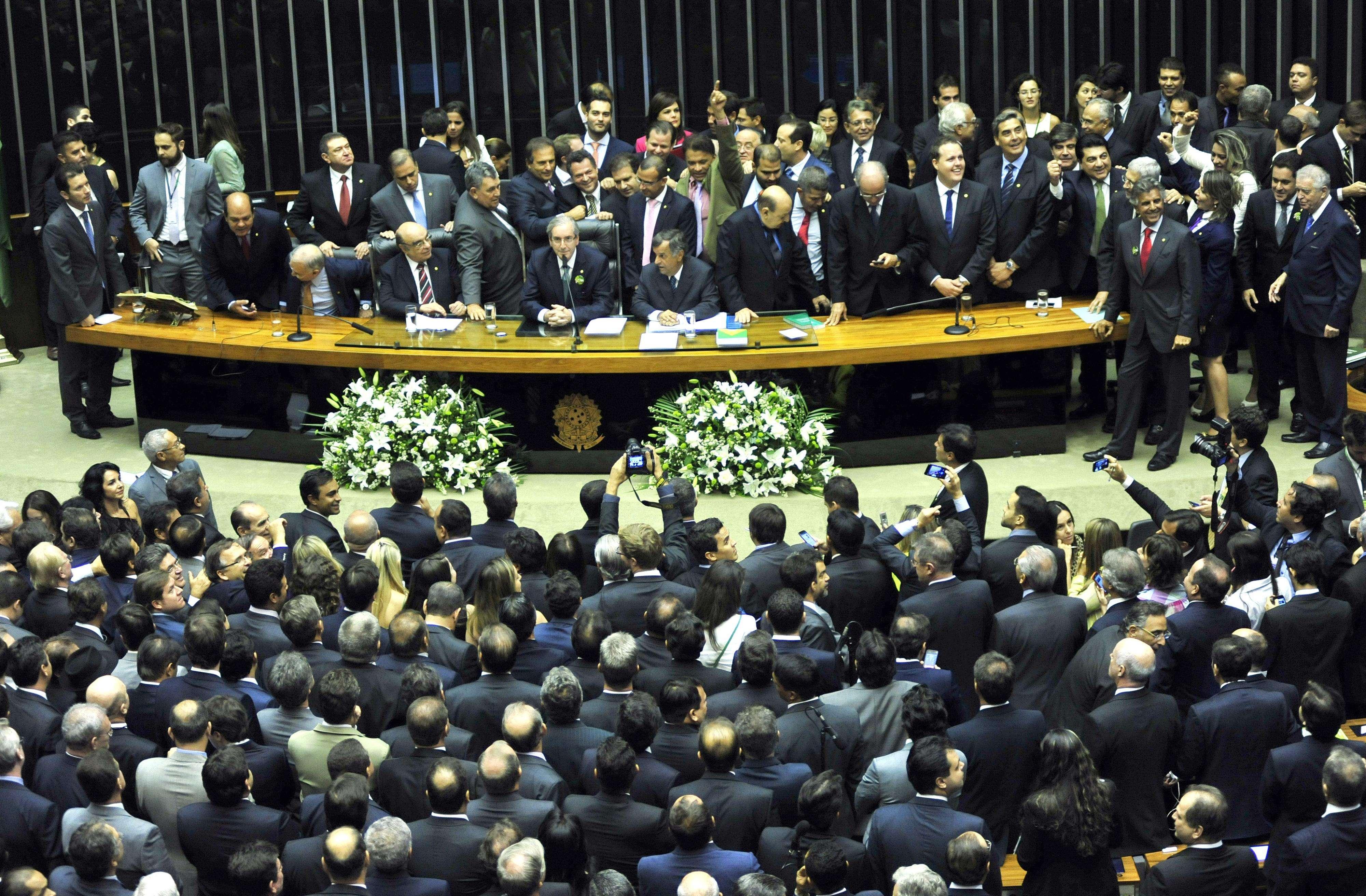 Eduardo Cunha foi eleito para presidir a Câmara dos Deputados pelos próximos dois anos Foto: Laycer Tomaz/Agência Câmara