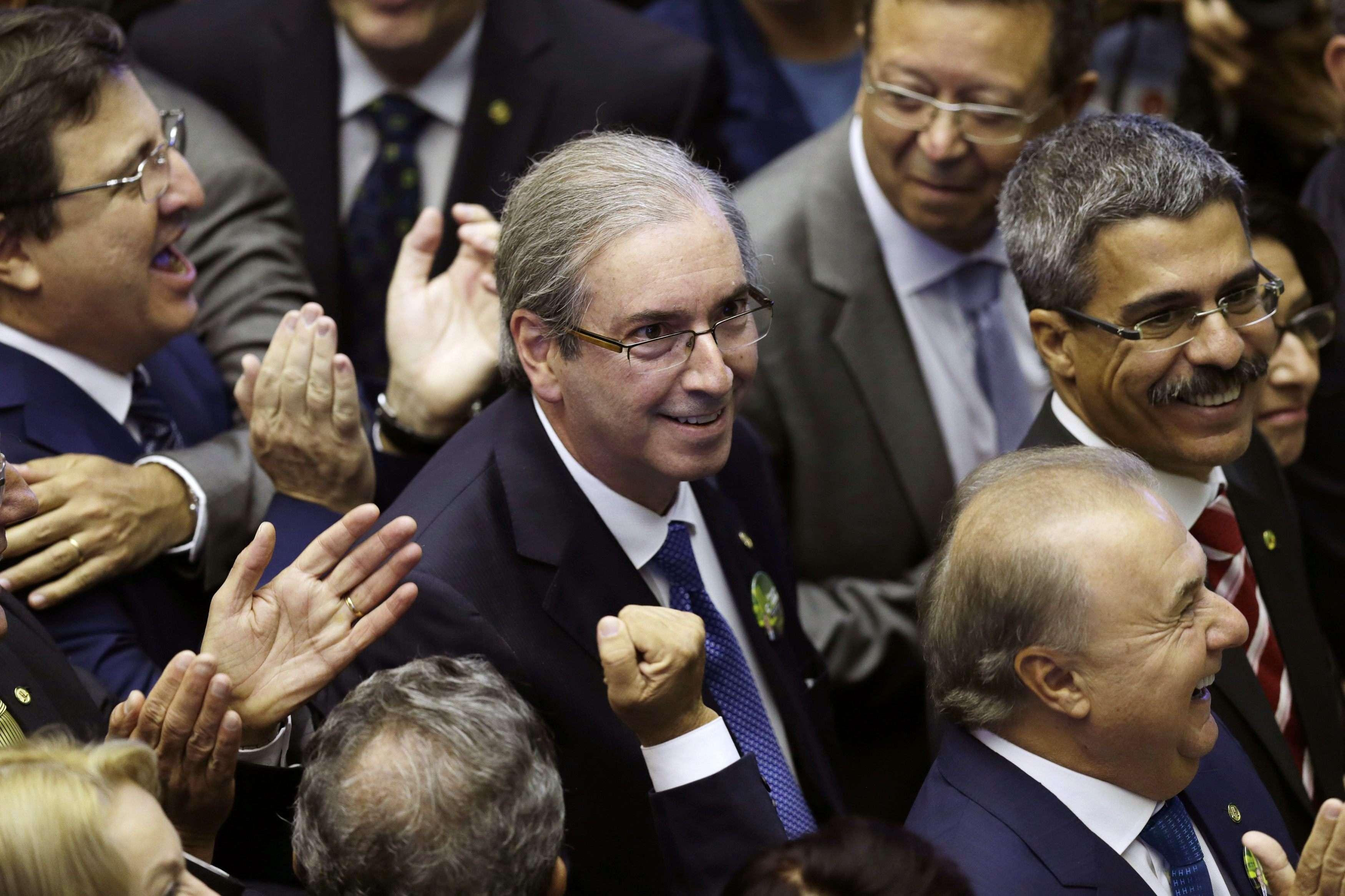 Liderando um bloco de 218 deputados, Cunha obteve um número ainda maior de votos Foto: Ueslei Marcelino/Reuters