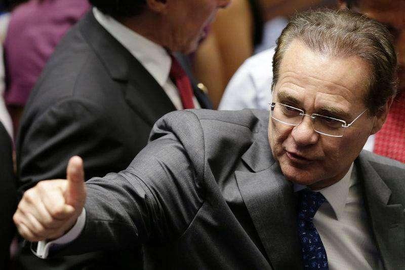 Senador Renan Calheiros (PMDB-AL), reeleito presidente do Senado. 1/2/2015 Foto: Ueslei Marcelino/Reuters