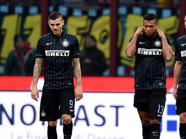 Mauro Icardi y Freddy Guarín se pelaron con los hinchas del Inter de Milán. Foto: Getty Images
